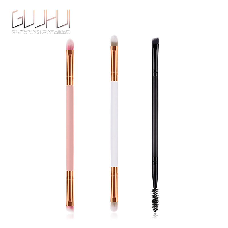 Makeup Brushes Double Head Makeup Tools Plastic Handle Double Eyebrow Brush Eyebrow Comb Makeup Beauty Tools Beauty Cosmetic 1PC