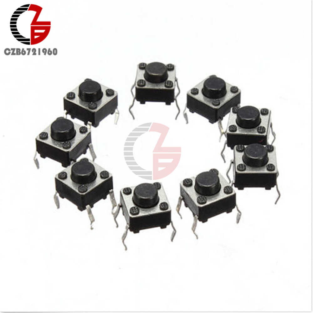 20PCS Tactile Push Button Switch Tact Schalter 6X 6X 4,3mm 4-pin DIP neue