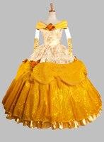 Косплей красавица красоты и зверь взрослый костюм бальное платье ну вечеринку платье косплей платье