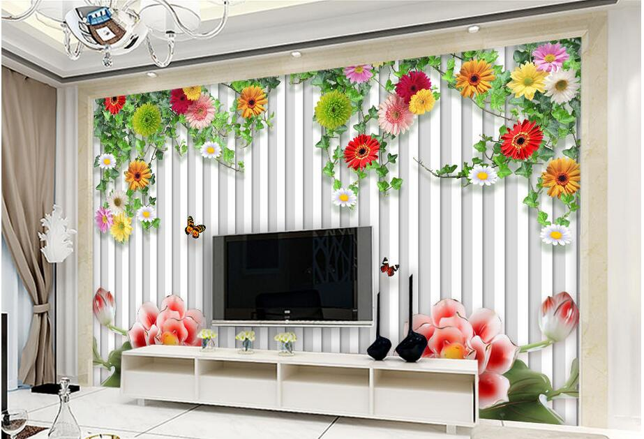 Custom photo 3d wallpaper Non-woven mural Rattan garden wooden fence flowers painting 3d wall murals wallpaper for living room custom photo 3d wallpaper non woven mural the pyramids of egypt decoration painting 3d wall murals wallpaper for living room