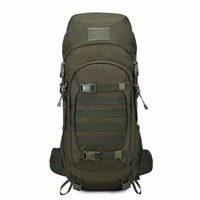 Mountaintop 50L Internal Frame Tactical Backpack 600D Polyester Military Molle Bag With Rain Cover For Hunting