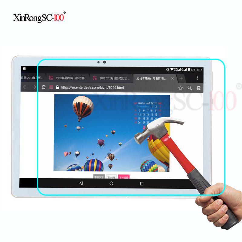 Tempered Glass film Guard LCD Protector for 10