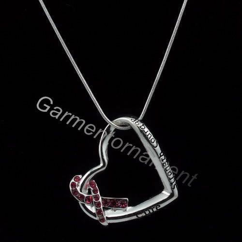 Heart Shaped With Letter Cure Strength Courage Pink Breast Cancer