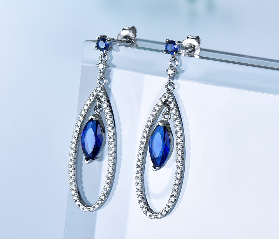UMCHO-925 sterling silver earrings for women EUJ064S-1 (3)