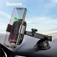 Chargeur sans fil de voiture Baseus Qi pour iPhone X Samsung capteur infrarouge intelligent charge rapide sans fil tableau de bord support pour téléphone