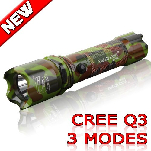 New Arrival Camouflage-type! Super bright Torch Handy 3 mode light LED Flashlight Waterproof outdoor (1~2 lots FREE SHIPING) 908