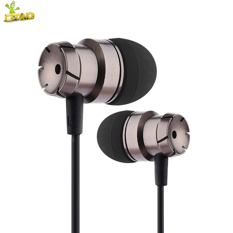 OTAO Earphones With Microphone For Mobile Phone Metal In-ear Stereo 3.5mm Earbuds Super Bass Sport Handsfree Earphone glaupsus gj01 in ear 3 5mm super bass microphone earphones earplug stereo metal hifi in ear earbuds for iphone mobile phone
