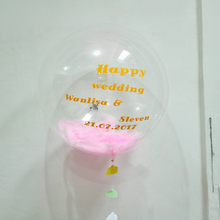 1000pcs/ lot 24inch Clear Foil Balloons Transparent Aluminum Balloon Wedding Birthday Party Decoration ballons  free shipping
