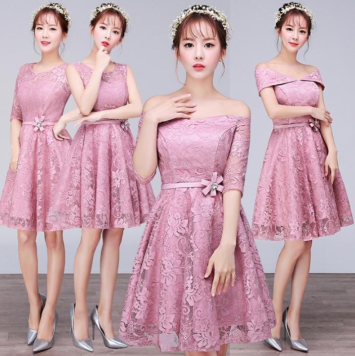2017 moda sexy baratos muchachas de la hermana de la novia corto ...
