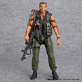 "NECA Commando 30th John Arnold Schwarzenegger Matriz PVC Action Figure Collectible Modelo Toy 7 ""18 cm"