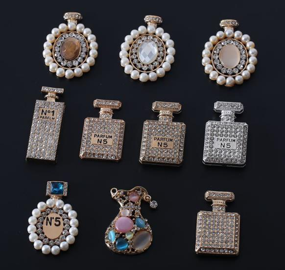 Buttons Arts,crafts & Sewing Humble Pearl Button 50pcs/lot,rhinestone Embellishments Metal Buttons Perfume Bottles Alloy Accessories Mobile Phone Stick Drill