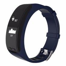 P5 умный Браслет 0.96 »OLED GPS Спорт на открытом воздухе сердечного ритма Мониторы высота Температура меры шагомер браслет