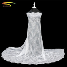 3M/lot long eyelash lace fabric traditional wedding white Table Cloth DIY Crafts