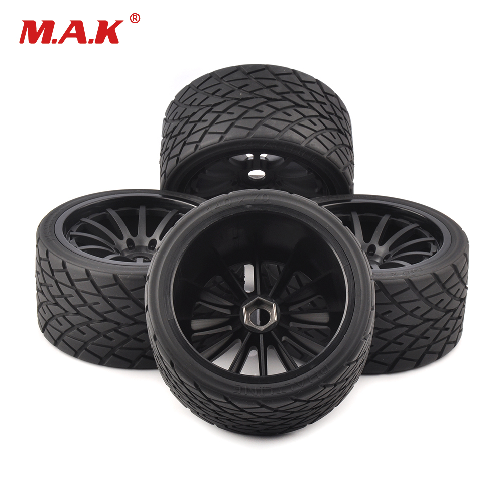 4pcs/set 1/8 scale on-road bigfoot wheels tires&rims 17mm Hex fit for 1:8 RC model car truck parts accessories26412 4pcs 3 2 rubber rc 1 8 wheels