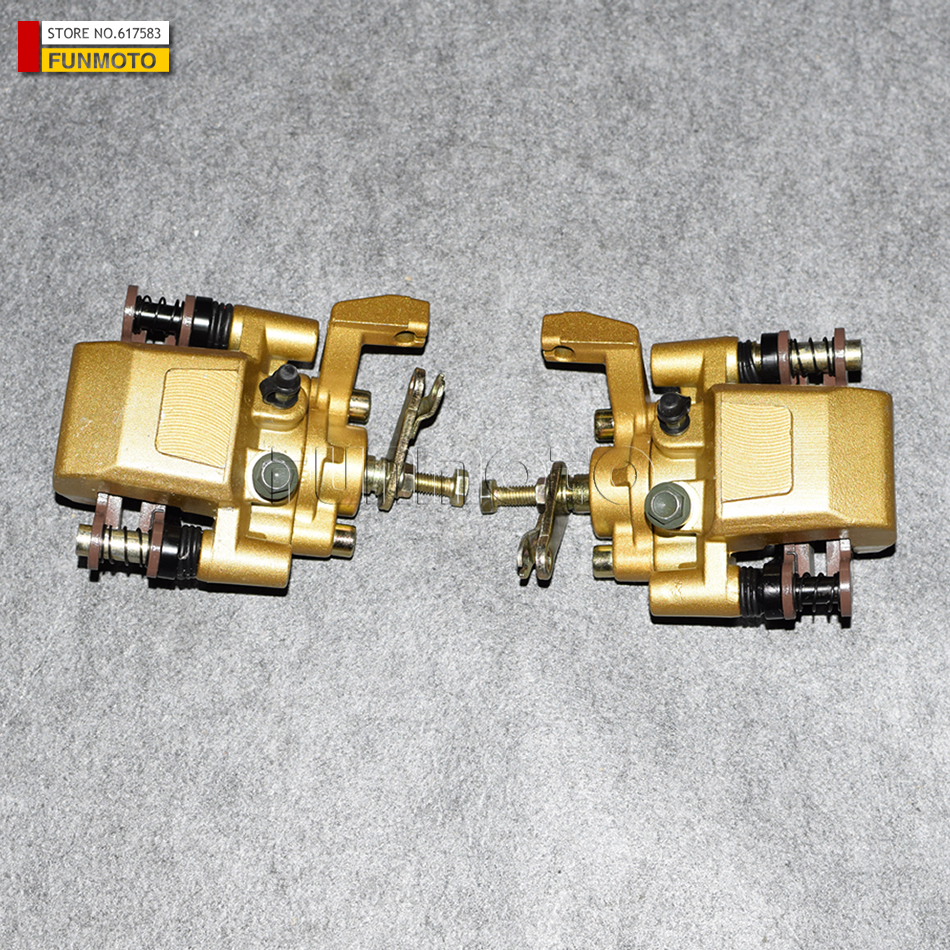 front left and front right  Brake caliper of  XT1100/650 BUGGY/kinroad 1100cc gokart or 650cc buggy front left and front right and rear brake pad of cf moto cf650nk modl year 2013