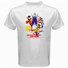 Magnificent seven goku vegeta dragon ball gohan tv saiyan Tshirt White Basic Tee