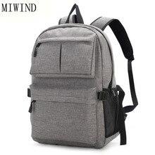 Miwind дизайн рюкзак книга сумки для школы рюкзак повседневный рюкзак Оксфорд холст ноутбук Модные мужские рюкзаки TMH625