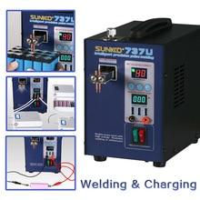 SUNKKO 737U 2.8KW Lithium Battery Spot Welding Machine Intelligent With 3pcs USB  test port For 18650 Batteries Pack Welding
