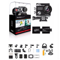 AKASO Brave 4 4K 20MP Wifi Action Camera Ultra HD with EIS 30m Underwater Waterproof Remote Sports Camcorder +Helmet Accessories