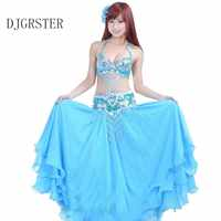 DJGRSTER Del Ventre Dance2-3pcs Reggiseno e gonna e Cintura di Danza Del Ventre Costume Professionisti 8 Colori Traje Danza Del Vientre Bollywood Costumi