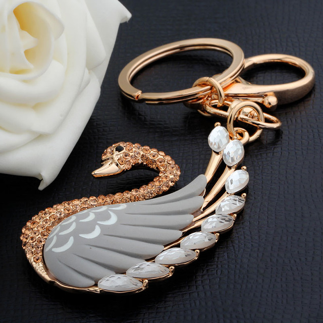 New magic friendship key chain for woman jewelry gift animal keychain swan keychain for car bag keychains jewelry gift wholesale
