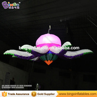 Free Delivery LED Lighting Inflatable Flower Model Customized 3M Dia Blow Up Hanging Flower Replica For