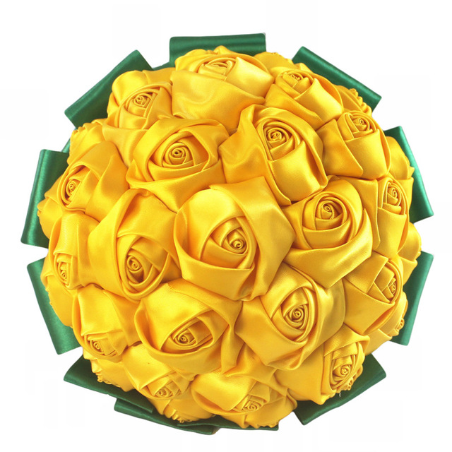 Customized yellow green rose flowers bouquet handmade wedding customized yellow green rose flowers bouquet handmade wedding flowers bouquet simple bridal bridesmaid flower holding w2796 mightylinksfo
