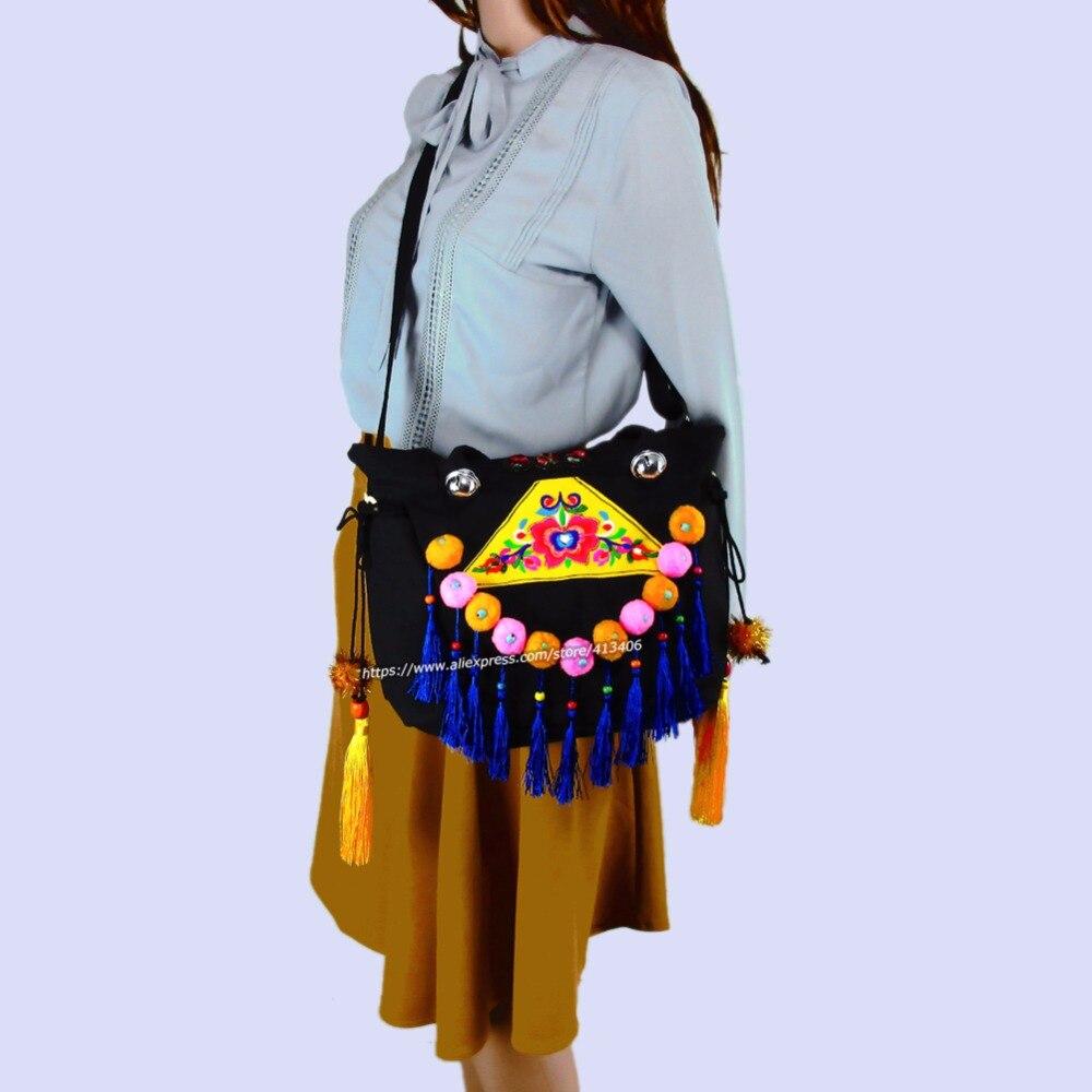 2-Istifadə Vintage Hmong Tribal Etnik Tayland Hindistan Boho çiyin - Çantalar - Fotoqrafiya 3