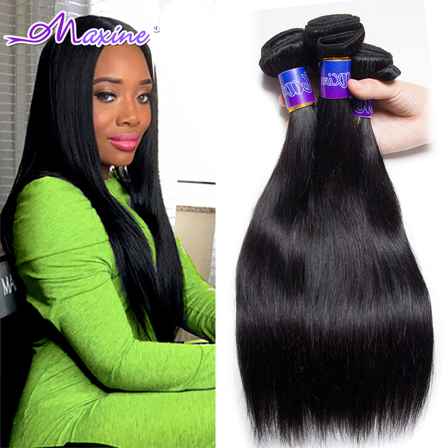 Maxine Hair Products 3pcs Lot Brazilian Straight Hair Unprocessed