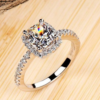 AAA Zircon Engagement Ring for Women White Gold Lady Wedding Rings Jewelry Gift Women Accessories For Dropshipping