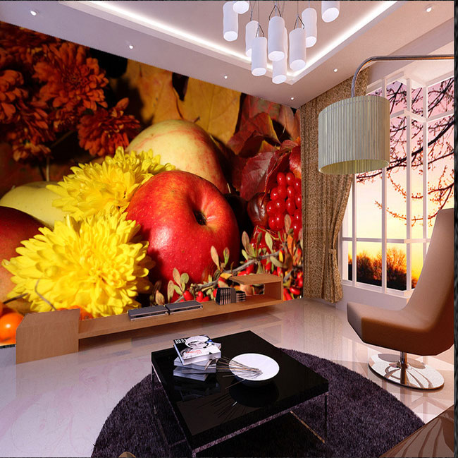 Apple Living Room Specialist: New 8D Mural Modern Creative Hand Painted Fruit And