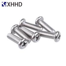 цена на 304 Stainless Steel Phillips Pan Head Machine Screw Metric Thread Cross Recessed Round Head Bolt Fastener Metal M6 M8