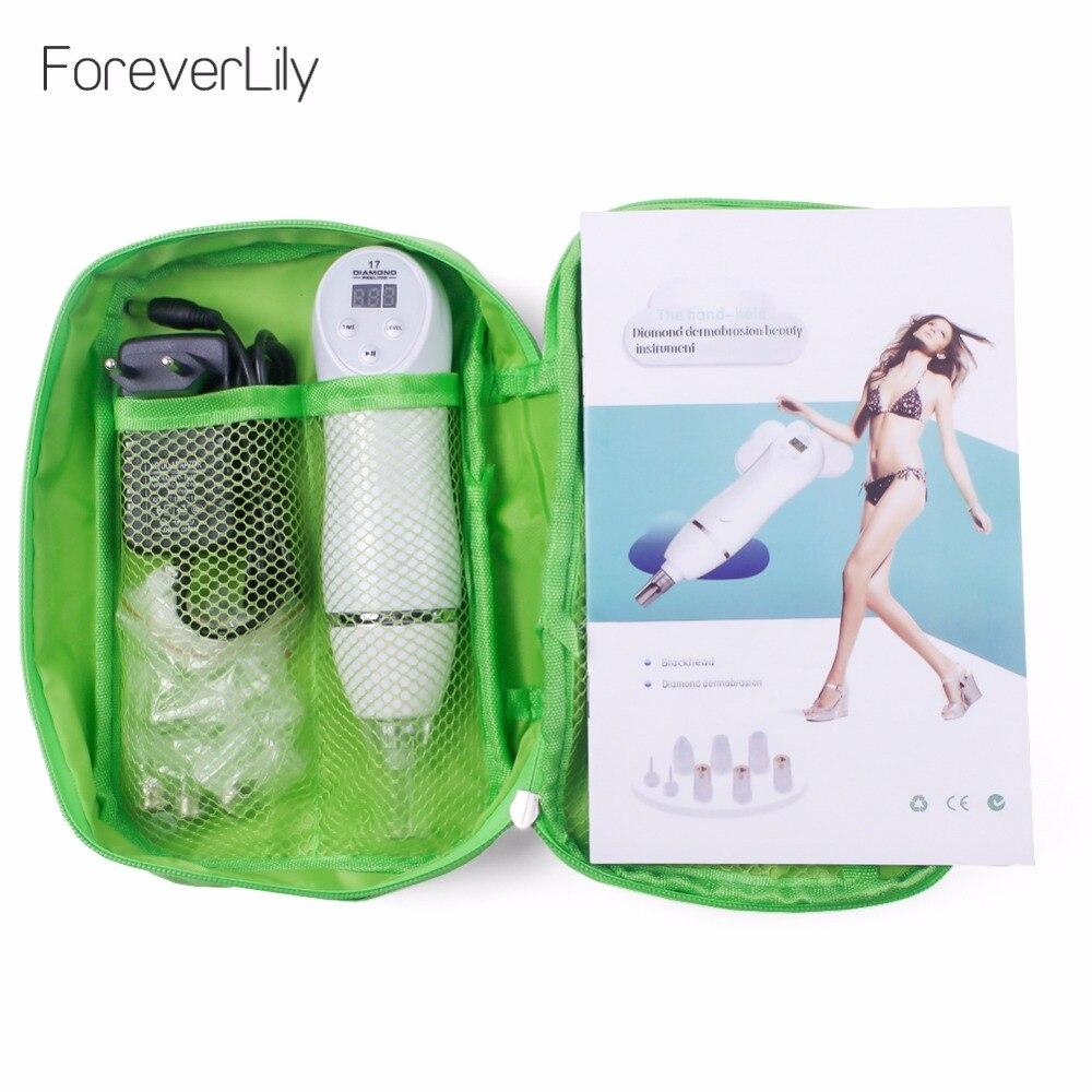 Diamante 17 podable microdermoabrasión diamante Peeling dispositivo eliminación de espinillas piel cáscara diamante dermoabrasión masaje Facial