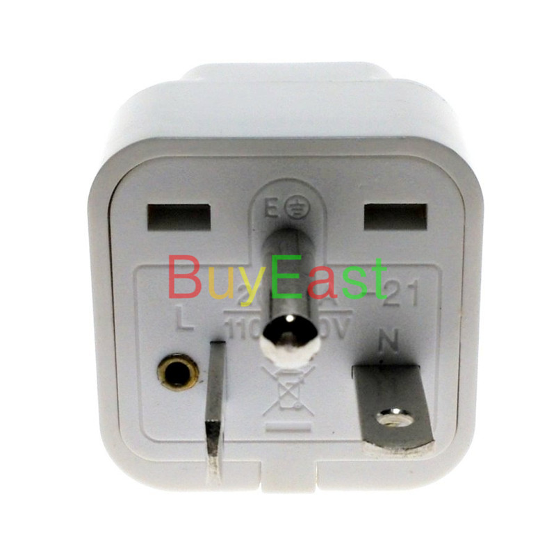 North American US NEMA 6-20P 2-Multi Outlet Electrical Plug Adapter 1 PC