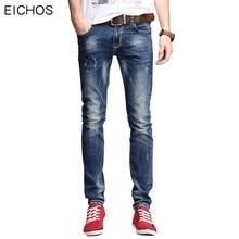 EICHOS Men Denim Pencil Pants 98% Cotton Casual Mens Summer Jeans 2017 Fashion Elasticity Skinny Jeans Men Stretch Long Pants