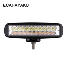 ECAHAYAKU 6 Inch 60W 6000LM 3 light type Waterproof Car LED Work Bar Offroad Lights Driving Lamp for Truck SUV 4X4 4WD ATV