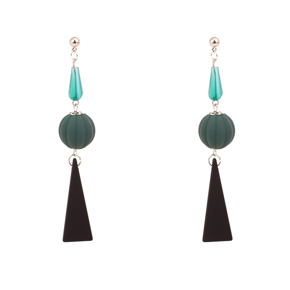 Glass Stone & Acrylic Female Modern Earrings Safety Pin Earrings Vintage Drop Dangle Hanging Earrings Costume Jewelry Wholesale