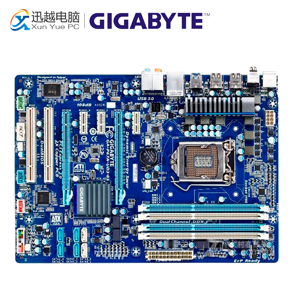 Gigabyte GA-P67A-UD3-B3 Desktop Motherboard P67A-UD3-B3 P67 LGA 1155 i3 i5 i7 DDR3 32G SATA3 ATX bad company bad company rock n roll fantasy the very best of bad company 2 lp