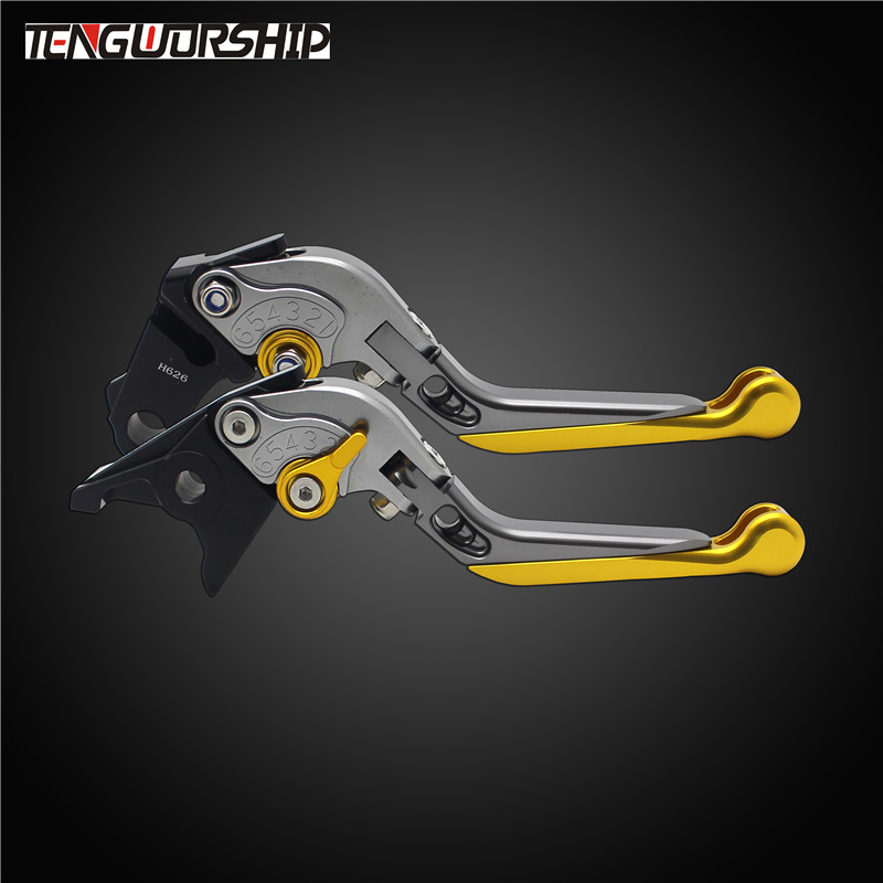 Teng Worship For Bajaj Pulsar <font><b>200</b></font> / Pulsar <font><b>200</b></font> <font><b>NS</b></font> / Pulsar <font><b>200</b></font> RS CNC Motorcycle Folding Extendable Brake Clutch Levers image