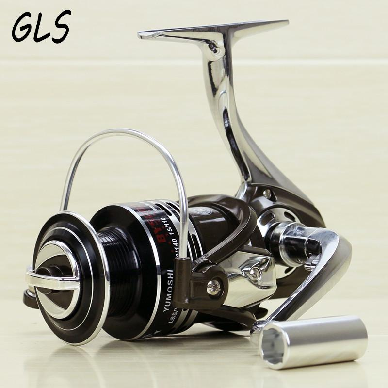 Metal Spinning Fishing Reel Coil 1000 - 7000 Series 12 + 1BB 5.1: 1 Metallfiskhjul roterende hjul