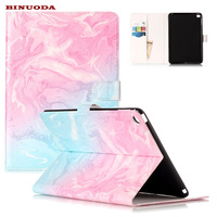 2017 New Marble Pattern PU Leather Wallet Case For IPad Air 2 Folio Flip Shockproof Stand