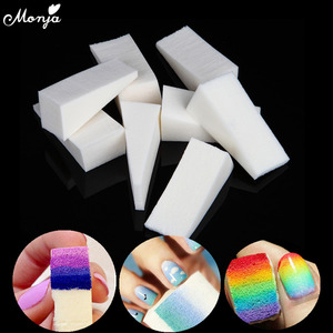 Monja 24Pcs Nail Art Color Gradient Sponge Template UV Gel Polish Varnish Image DIY Transfer Soft Triangle Stamper Manicure Tool