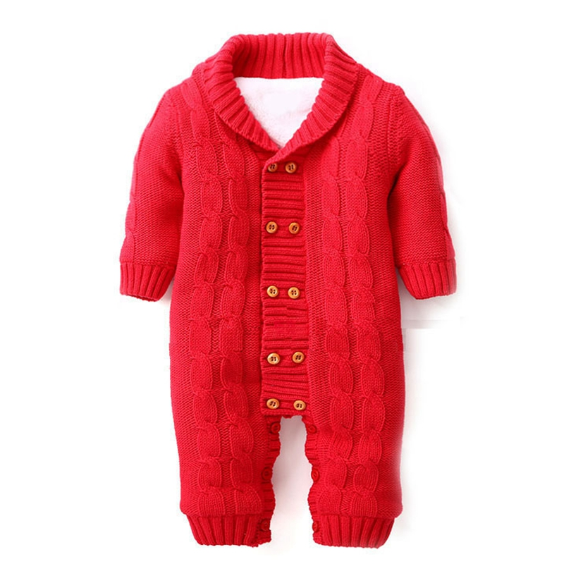 a9527d0575e2 Thick Cotton Warm Infant Baby Rompers Winter Clothes Newborn Baby ...