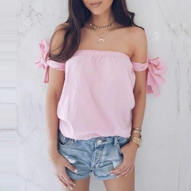 312d26b4879 Womens Off Shoulder Summer Tops Sleeveless Fashion Shirt Casual Brand Sexy  Vogue harajuku Blouse Loose Hipster