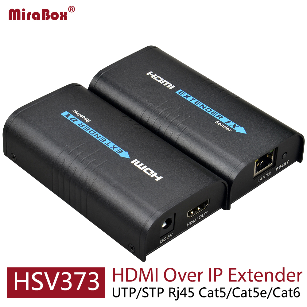 HSV373 HDMI Extender Ethernet Support 1080P 120m HDMI Extender Ethernet Over Cat5/Cat5e/Cat6 Rj45 HDMI Over IP Extender-in HDMI Cables from Consumer Electronics    1