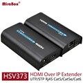 Hsv373 hdmi extender ethernet apoio 1080 p 120 m hdmi extender over ethernet cat5/cat5e/cat6 rj45 hdmi extender sobre ip