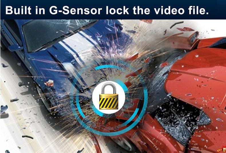 E-ACE Car Dvr 1080P Dual Lens Dash Camera Rear Mirror Digital Recorder With Rearview Camera Video Recorder Camcorder Registrar 6