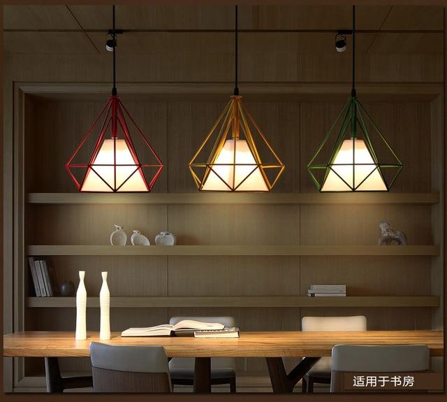 Mode led Hanglampen E27 led lampen Multi kleur woonkamer Hanger ...