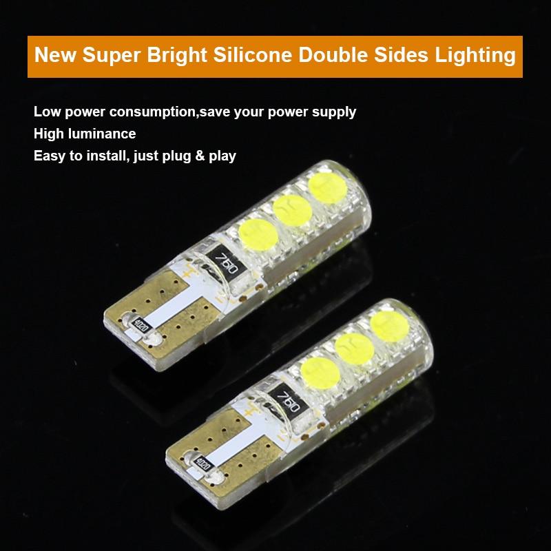 2 x T10 W5W 12V LED-es kivilágítási jelzőlámpa izzóforrás a - Autó világítás - Fénykép 2