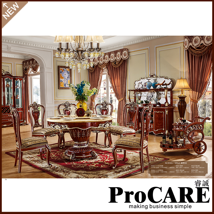 ProCARE Attractive Design Dining Room Set Furniture Unique Fashion Design  Brand And High Quality Modern Dining Chair Table Set